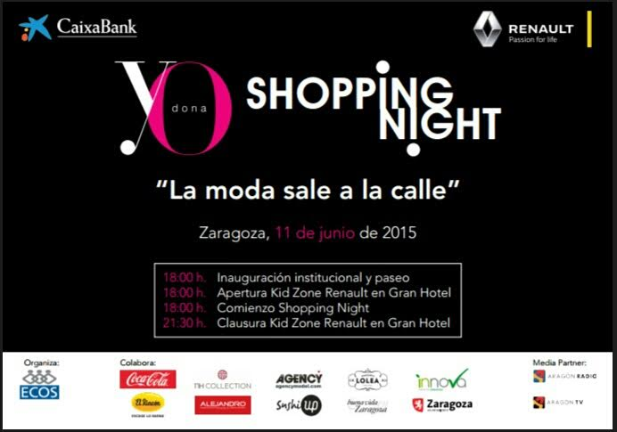 yo dona shopping night zaragoza 2015 agenda eventos